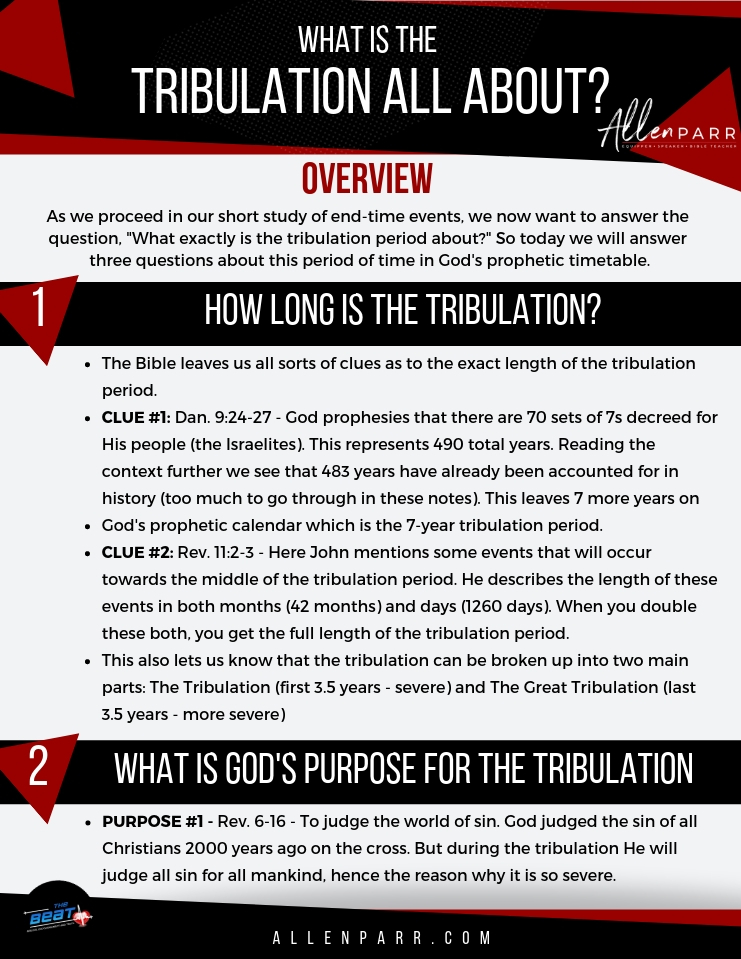 WHAT IS THE TRIBULATION IN THE BOOK OF REVELATION? - Allen Parr